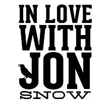 IN LOVE WITH JON SNOW Photographic Print