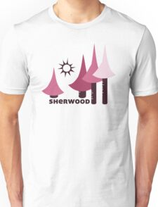Wyld Sherwood Forest t-shirt (in berry) Unisex T-Shirt