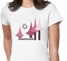 Wyld Sherwood Forest t-shirt (in berry) Womens Fitted T-Shirt
