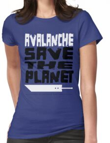 AVALANCHE! Save the Planet! Womens Fitted T-Shirt