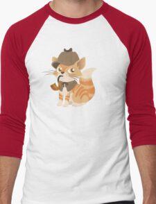 Cute Sherlock Holmes Kitten Men's Baseball ¾ T-Shirt