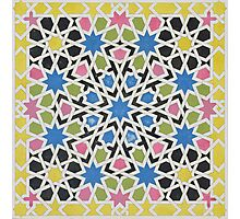 Mosaic design from the Alhambra Photographic Print