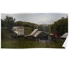 Farmstead From Behind Poster