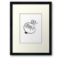 Vegetable onion nature garden Framed Print