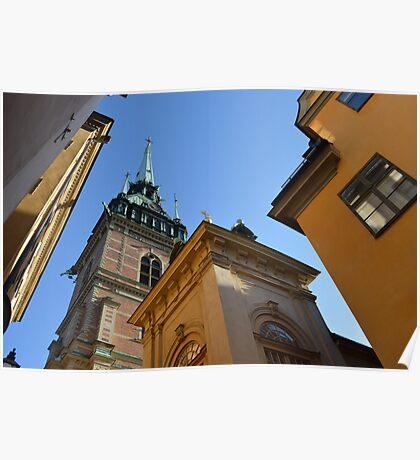 Church Spire in Stockholm Poster