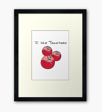 Vegetables tomatoes nature garden Framed Print