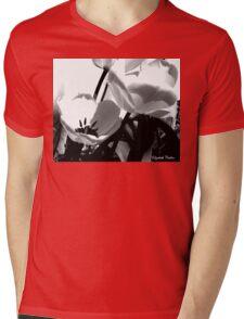 Floral Silhouette Mens V-Neck T-Shirt