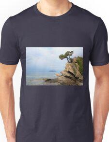 pine tree on a rock Unisex T-Shirt