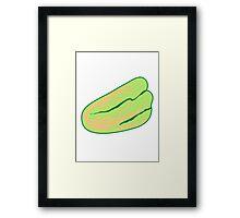 Salatl natural vegetable garden Framed Print