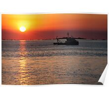 Sunset in Colonia Del Sacramento   Poster