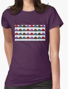 Pokeball Palooza Womens Fitted T-Shirt