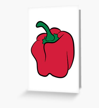 Vegetables peppers organic garden Greeting Card