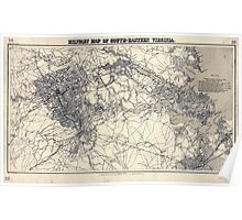 Civil War Maps 1137 Military map of south-eastern Virginia Poster
