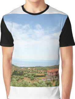 old house Sithonia Halkidiki Greece landscape Graphic T-Shirt
