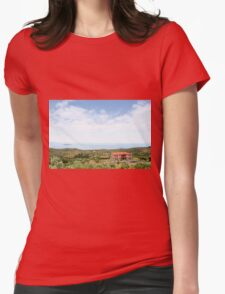 old house Sithonia Halkidiki Greece landscape Womens Fitted T-Shirt