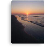 Sunrise Over The Atlantic Ocean Canvas Print