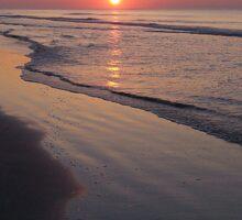 Sunrise Over The Atlantic Ocean Sticker