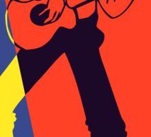 Retro Pop Art Guitarist Sticker