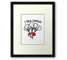 Vegetables I like Radischen nature garden Framed Print