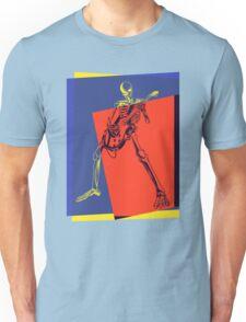 Pop Art Skeleton Rocker Unisex T-Shirt