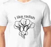 Vegetables I like Radischen nature garden Unisex T-Shirt