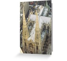 Aerial View of St. Patricks Cathedral, View from Top of the Rock Observation Deck, New York City Greeting Card