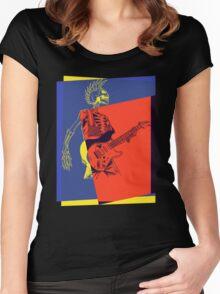 Mohawk Punk Rocker Guitarist Women's Fitted Scoop T-Shirt