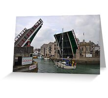 Raise That Bridge........... Greeting Card