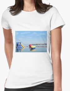 beach toys and equipment floating on sea T-Shirt
