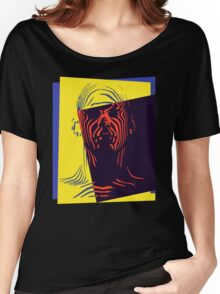Pop Art Outline Man Women's Relaxed Fit T-Shirt