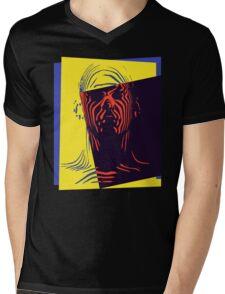Pop Art Outline Man Mens V-Neck T-Shirt
