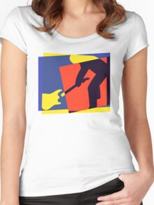 Rock Guitar Smash Women's Fitted Scoop T-Shirt