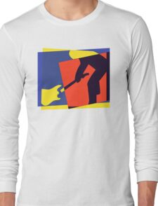 Rock Guitar Smash Long Sleeve T-Shirt