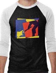 Rock Guitar Smash Men's Baseball ¾ T-Shirt