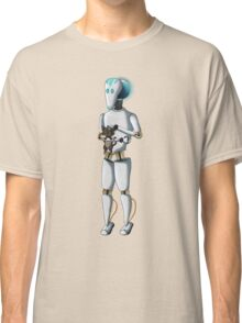 Robot and Kitty Classic T-Shirt