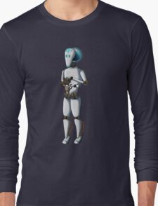 Robot and Kitty Long Sleeve T-Shirt
