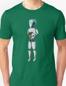 Robot and Kitty Unisex T-Shirt