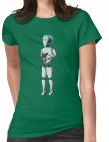 Robot and Kitty Womens Fitted T-Shirt