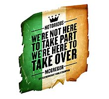Conor McGregor - [Take Over Flag] Photographic Print