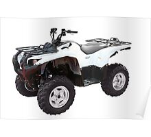white 4x4 atv isolated Poster