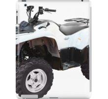 white 4x4 atv isolated iPad Case/Skin