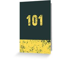 Fallout Vault 101 - Vintage Blue Greeting Card