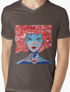 Anime Girl  Mens V-Neck T-Shirt