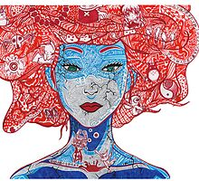 Anime Girl  by Pandora's  Scribbles