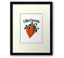 Vegetables I like carrots organic garden Framed Print