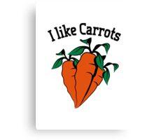 Vegetables I like carrots organic garden Canvas Print