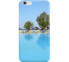 swimming pool summer vacation scene iPhone Case/Skin