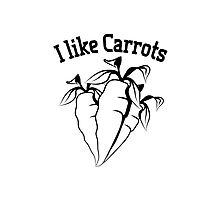 Vegetables I like carrots organic garden Photographic Print
