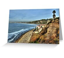 Palos Verdes Cliffs Greeting Card