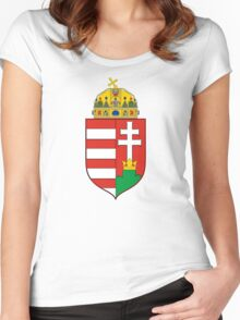 Medieval Coat of Arms of Hungary  Women's Fitted Scoop T-Shirt